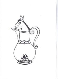 The Mule is in the pitcher! by Muna Zaki